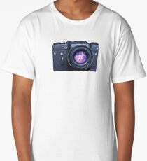 Old fashioned film camera with pink unicorn Long T-Shirt