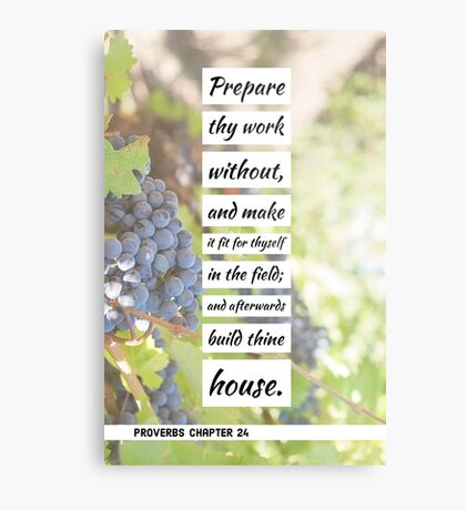 Proverbs chapter 24 Metal Print