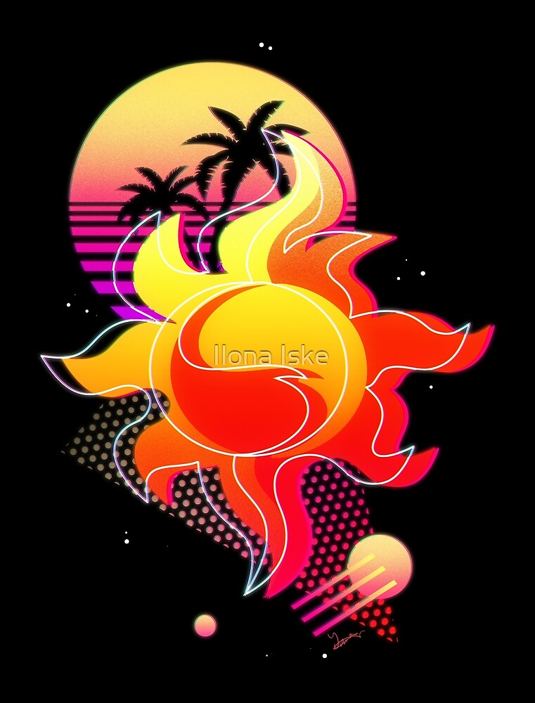 Synthwave Sunset Shimmer Cutie Mark by Ilona Iske