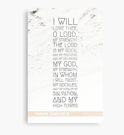 Psalms chapter 18 Metal Print
