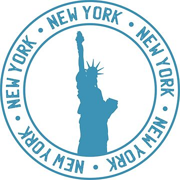 New York Passport Style Stamp by litteposterco