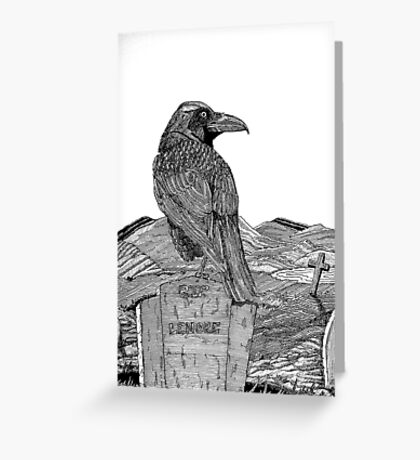 217 - 'SORROW FOR THE LOST LENORE' - DAVE EDWARDS - INK - 2008 Greeting Card