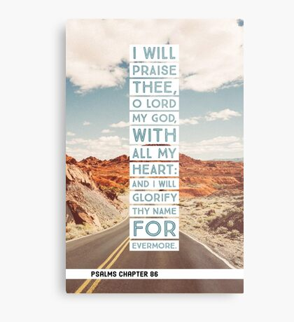 Psalms chapter 86 Metal Print
