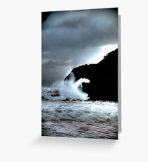 Turmoil -Warriewood Beach, Sydney - The HDR Experience Greeting Card