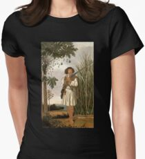 HD Mulatto man with gun and sword, by Albert Eckhout (4 of 8) HIGH DEFINITION Women's Fitted T-Shirt