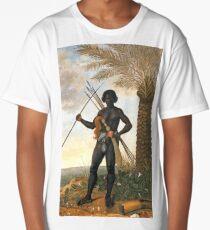 African warrior, by Albert Eckhout  (5 of 8) HIGH DEFINITION Long T-Shirt