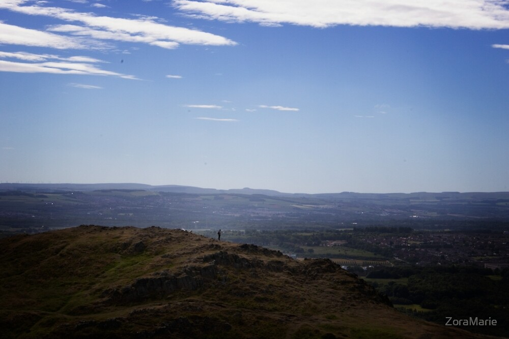 Alone on Arthur's Seat by ZoraMarie