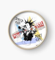 Punk 101: Spiked Hair, Don't Care Clock