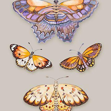 Butterfly Watercolour pattern art by Ruta