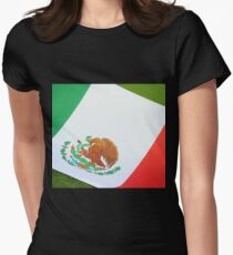 Mexican flag Women's Fitted T-Shirt