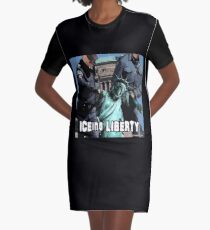 ICEing Liberty Graphic T-Shirt Dress