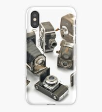 an assortment of old style film cameras        iPhone Case