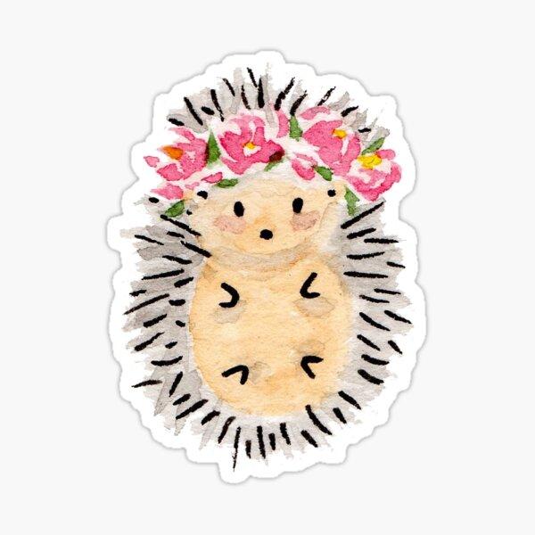 Flower crown hedgehog Sticker