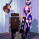 Guitar Heroine by landofdarkness