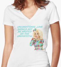 Unconditional Love Should Not Be Wasted On The Ungrateful Women's Fitted V-Neck T-Shirt