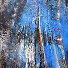 Variable Blue........Acrylic Based Mixed Media by RealZeal