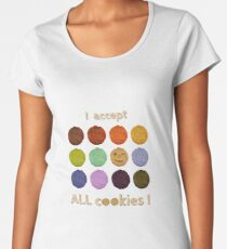 I accept ALL cookies! Frauen Premium T-Shirts