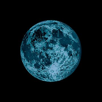 Blue Moon Lunar Design Illustration  by JimPlaxco
