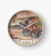 Cars and Motorcycles Clock