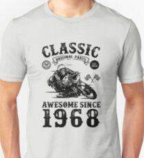 Camiseta unisex 50.o regalo de cumpleaños   50 años de edad   Nacido en 1968   Hecho en 1968   Regalo de cumpleaños de la vendimia   Amante de la motocicleta   Retro Bike Lover   Regalo de cumpleaños para hombres