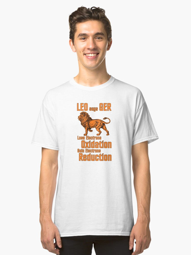 Science Lion Electron Transfer Classic T-Shirt Front