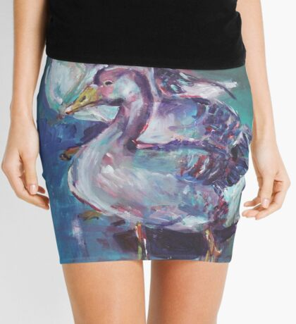 A giggle of geese Mini Skirt