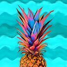 Colorful Pineapple, Ananas fruit by Jirka Svetlik