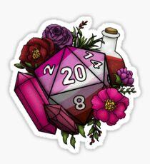 Pegatina Pride Lesbian D20 Tabletop RPG Gaming Dice