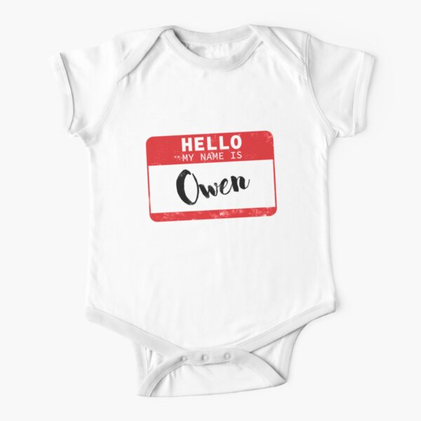Im Brodie Personalized Name Baby Romper Mashed Clothing Hello World