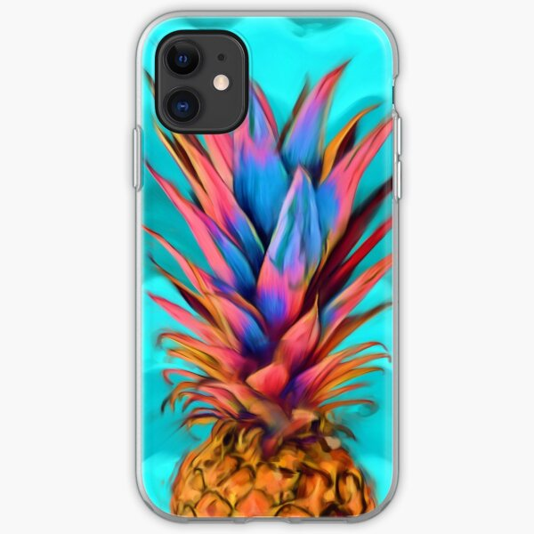 Colorful Pineapple, Ananas fruit iPhone Soft Case