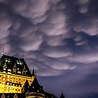 Château Frontenac and mammatus by Manon Boily