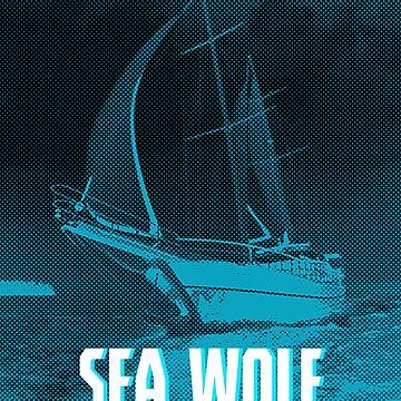 Sea Wolf monochrome art by KollesDesign