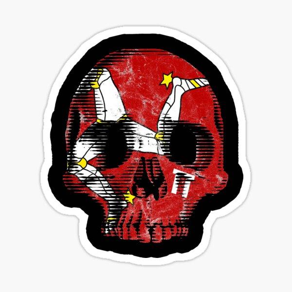 Isle Of Man Manx Flag Skull TT Racing 3 Legs Of Man Triskelion Sticker