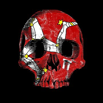 Isle Of Man Manx Flag Skull TT Racing 3 Legs Of Man Triskelion by thespottydogg