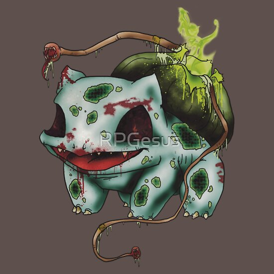 TShirtGifter presents: Zombie Bulbasaur