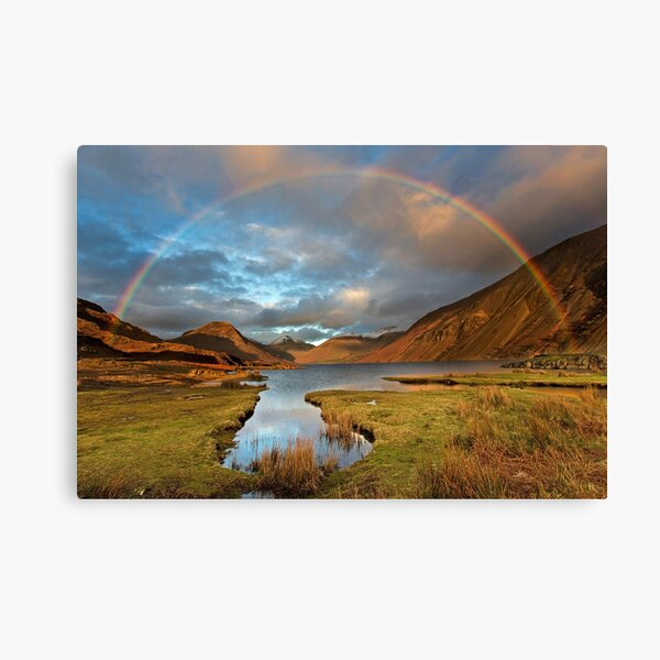 Wasdale and Wastwater Rainbow in the English Lake District Canvas Print