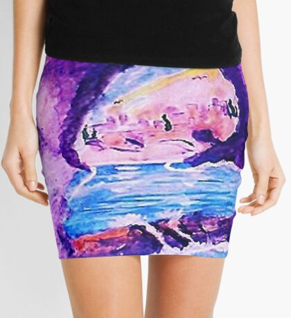 From Greece with love, watercolor Mini Skirt