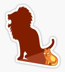 Funny Lion Cat Lannister Tshirt - Cat Gifts for Cat Lovers Sticker