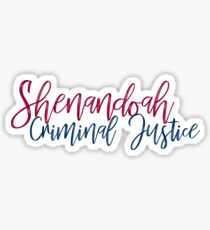 Shenandoah University Criminal Justice Sticker