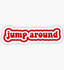 Jump Around - University of Wisconsin Madison Sticker