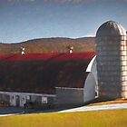 Red Barn, Green Mountain State. by Viv Thompson