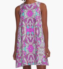 Bohemian Serenity Doodle A-Line Dress