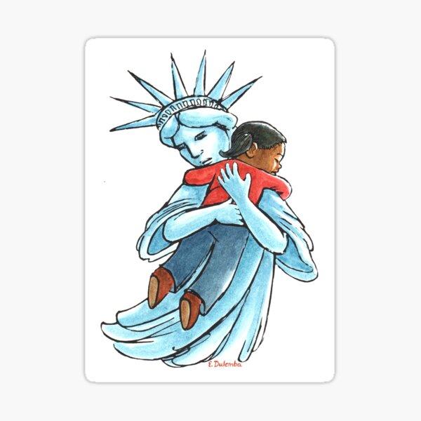 Liberty with Child Sticker