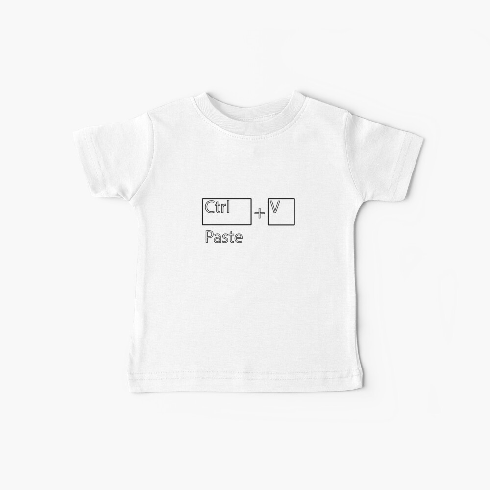 Dad/Mother & Baby Girl/Boy Copy Paste Funny T-Shirt | Baby T-Shirt