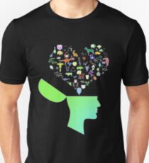 Head & Mind filled with Animal thoughts Unisex T-Shirt