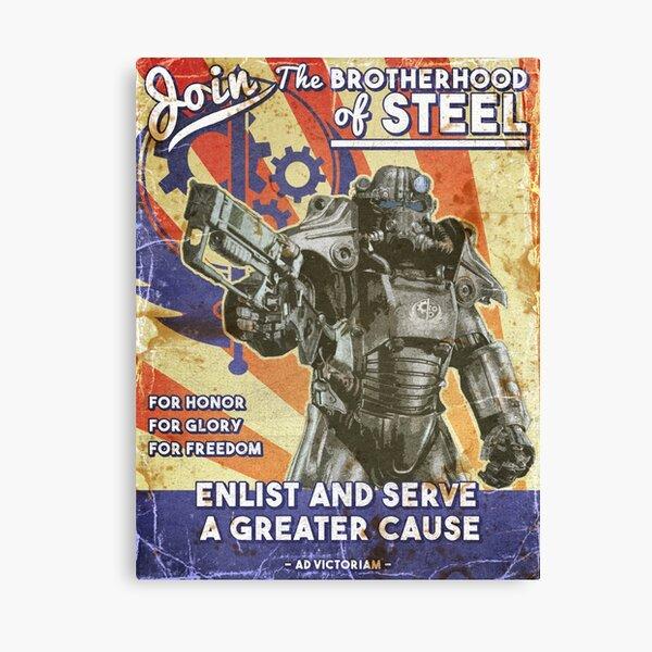 Brotherhood Propaganda Poster Canvas Print