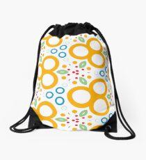 colorful circle rings creative seamless repeat pattern Drawstring Bag