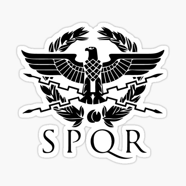 Akachafactory SPQR Flag Car Sticker Rome Rome Empire Coat