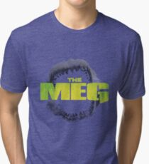 THE MEG - MOVIE - MEGALODON Tri-blend T-Shirt