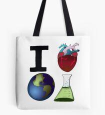 I Love Earth Science Tote Bag